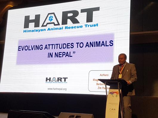 Khageshwaar presenting at the 2017 AfA Conference