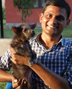 Dr Sanjiv with Blacky