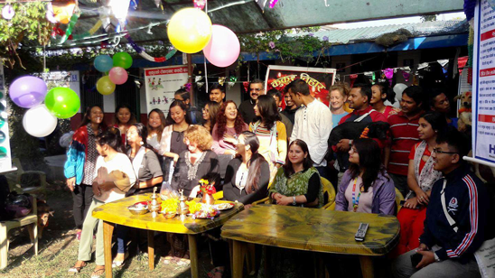 Kukur Tihar celebrations at the Pokhara clinic