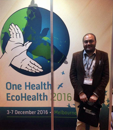 Khageshwaar Sharma at the One Health EcoHealth Conference
