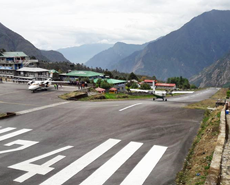 The local community generously paid for the HART team to be flown into the infamous Lukla airstrip