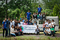 Staff from The One Health Foundation and HART, and the students from the AFU