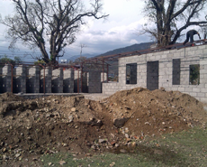 Construction of the new clinic progresses well