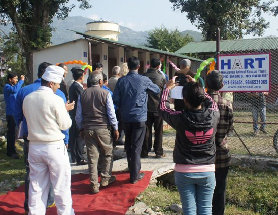 Official opening of the new facility in Pokhara