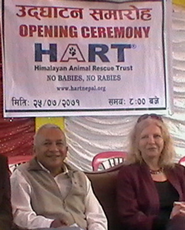Dr Prakash Raj Shrestha and Barbara Webb