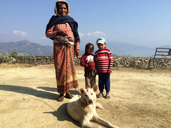 Spectacular views from a vaccination camp in Pumdi Bhumdi