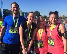 L-R: Matt, Cath, Beth & Emma complete the Reigate 10k