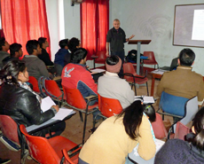 Dr Russell Lyon delivered a series of lectures on equine care and animal welfare in veterinary practice at Nepal's three Vet Schools